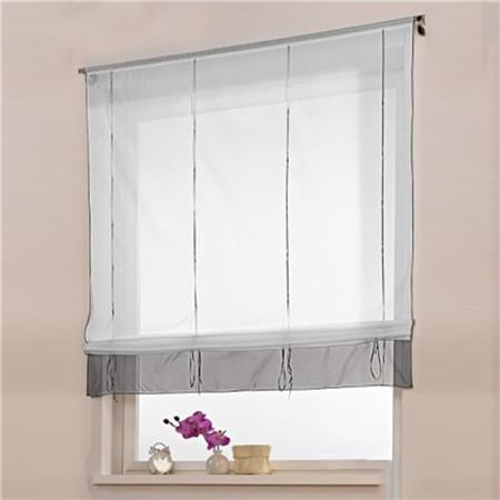 Blinds, Shades & Shutters Gray / A 60X140CM Vertical Blind Tulle Curtains  Floral Sheer Panel Polyester
