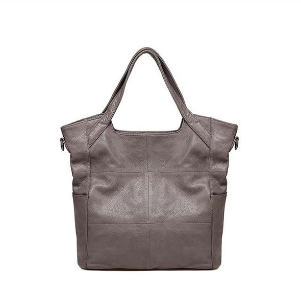 Classic Fashion Ladies Leather Handbag Gray