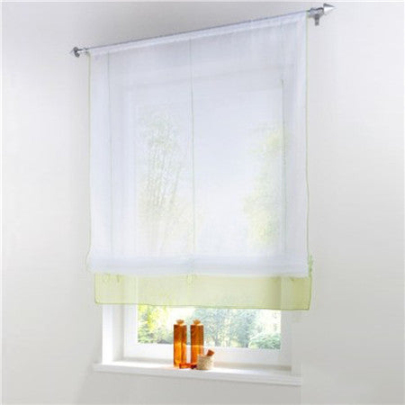Blinds, Shades & Shutters Green 3 / A 60X140CM Vertical Blind Tulle Curtains  Floral Sheer Panel Polyester