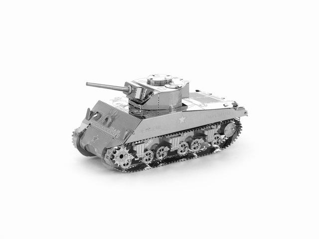 3D Puzzle Jigsaws Metal Toys 8 Styles tankers Toys for Adult M4 Sherman Tanks