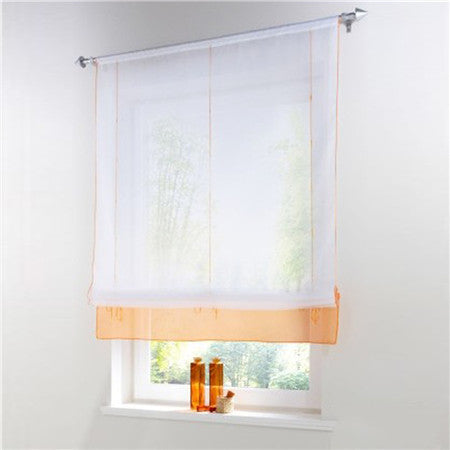 Blinds, Shades & Shutters Orange 3 / A 60X140CM Vertical Blind Tulle Curtains  Floral Sheer Panel Polyester
