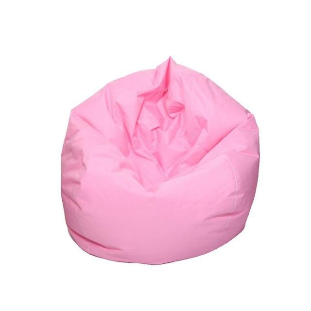 Pink Stuffed  Bean Bag Chair Solid Color