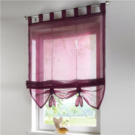 Blinds, Shades & Shutters Purple / A 60X140CM Vertical Blind Tulle Curtains  Floral Sheer Panel Polyester