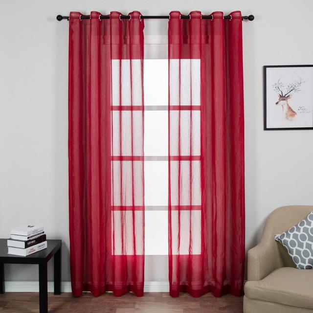 Sheer Curtains for Living Room Bedroom Tulle Drapes – Inspirational ...