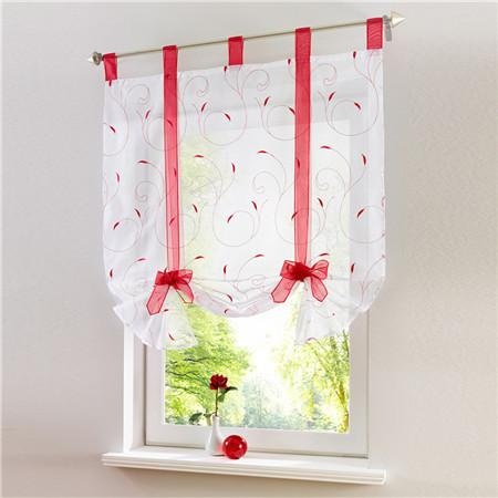 Blinds, Shades & Shutters Red / A 60X140CM Vertical Blind Tulle Curtains  Floral Sheer Panel Polyester