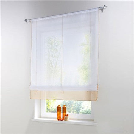 Blinds, Shades & Shutters Sandcolor 3 / A 60X140CM Vertical Blind Tulle Curtains  Floral Sheer Panel Polyester