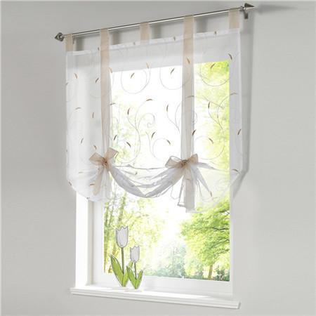 Blinds, Shades & Shutters Sandcolor / A 60X140CM Vertical Blind Tulle Curtains  Floral Sheer Panel Polyester