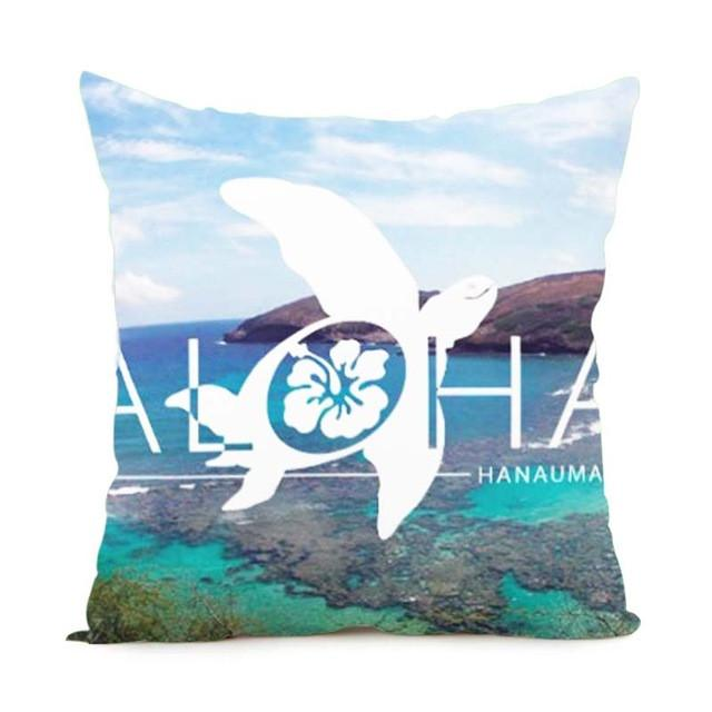 Cushion Cover 14x14 Inch / Style 4 Aloha Pillow Cover for Living Room