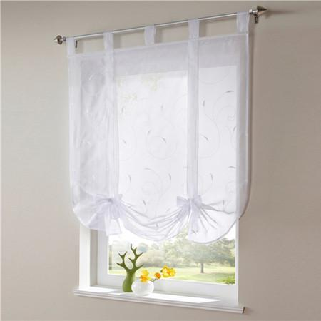 Blinds, Shades & Shutters White / A 60X140CM Vertical Blind Tulle Curtains  Floral Sheer Panel Polyester