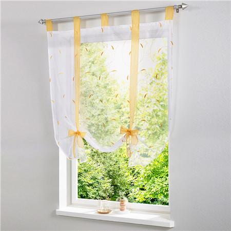 Blinds, Shades & Shutters Yellow / A 60X140CM Vertical Blind Tulle Curtains  Floral Sheer Panel Polyester