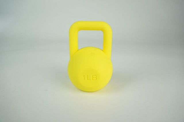 Weight Lifting Yellow Kettlebell Mini Fitness Exercise Equipment