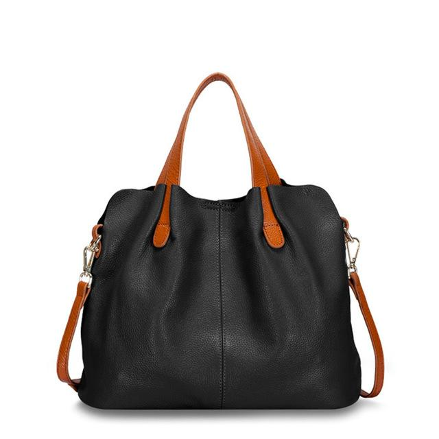 black Designer Women's Shoulder Bags Leather