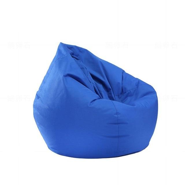 blue Stuffed  Bean Bag Chair Solid Color