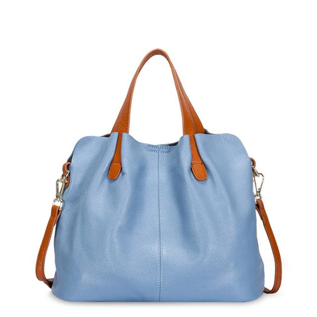 blue Designer Women's Shoulder Bags Leather