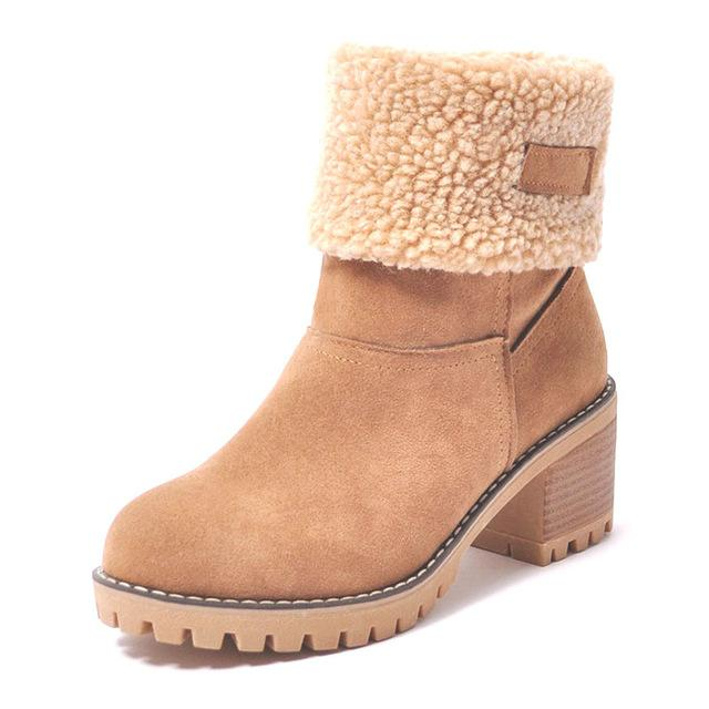 Ankle Boots camel / 4 Ladies  Snow Boots  Thick Bottom Platform Waterproof Ankle Boots