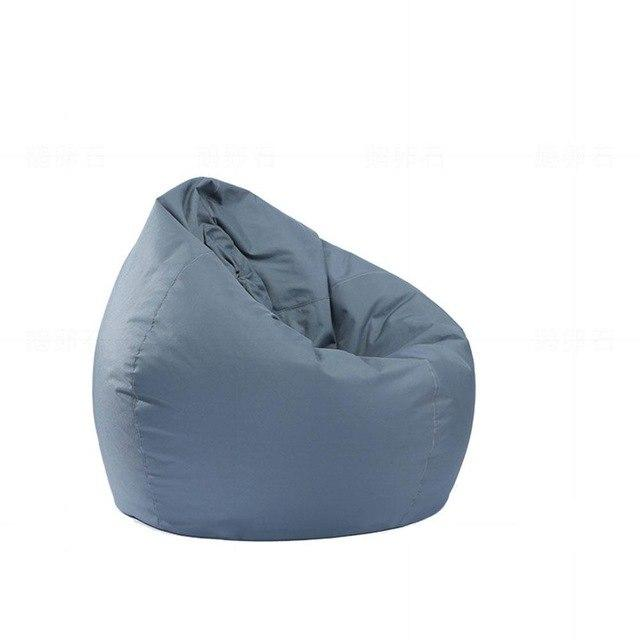 gray Stuffed  Bean Bag Chair Solid Color