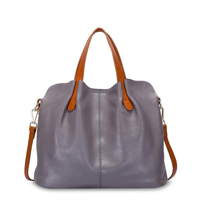 gray Designer Women's Shoulder Bags Leather