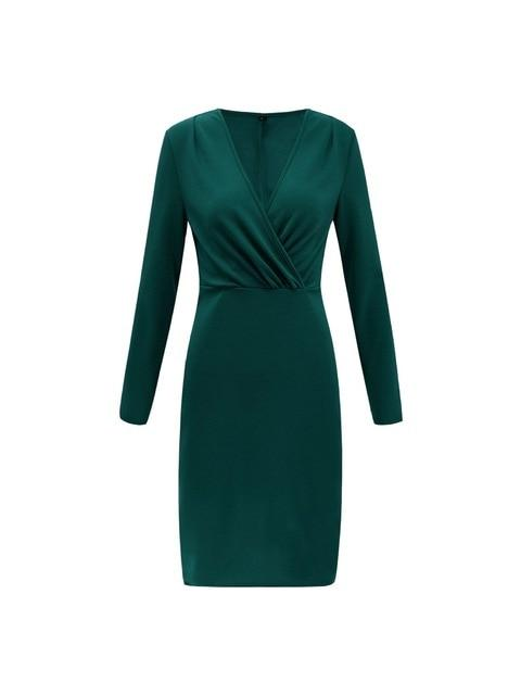 Dresses green / S Bodycon Dresses Deep V Neck Sexy Dress Club Wear