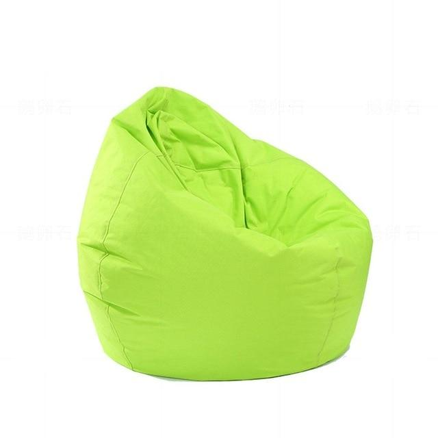 green Stuffed  Bean Bag Chair Solid Color