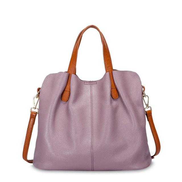 purple Designer Women's Shoulder Bags Leather