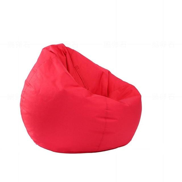 red Stuffed  Bean Bag Chair Solid Color