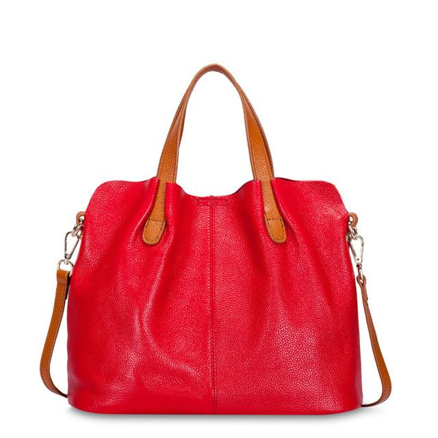 red Designer Women's Shoulder Bags Leather