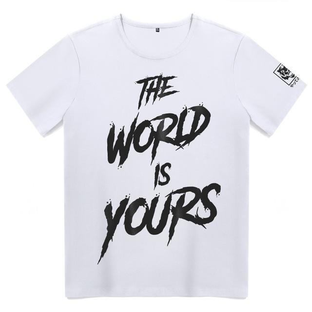 T-Shirts white / M Casual Tee Shirt  Graphic short sleeves Tee