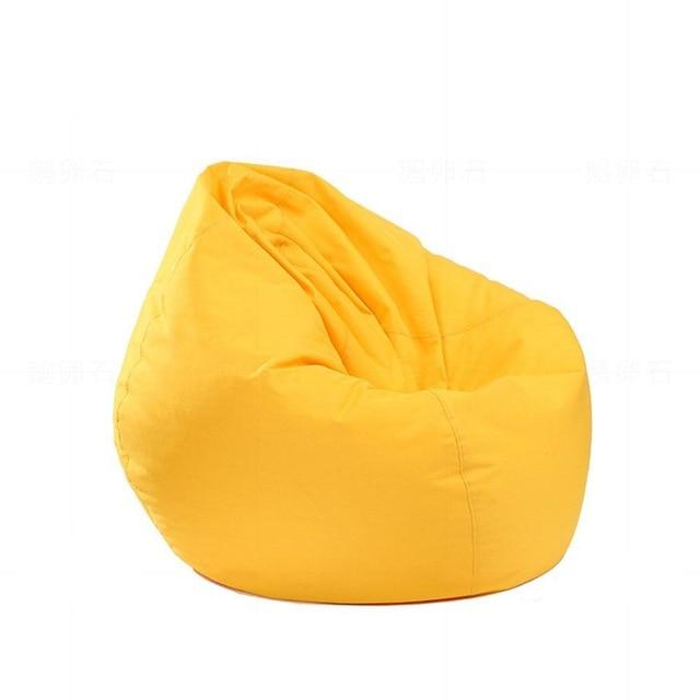 yellow Stuffed  Bean Bag Chair Solid Color