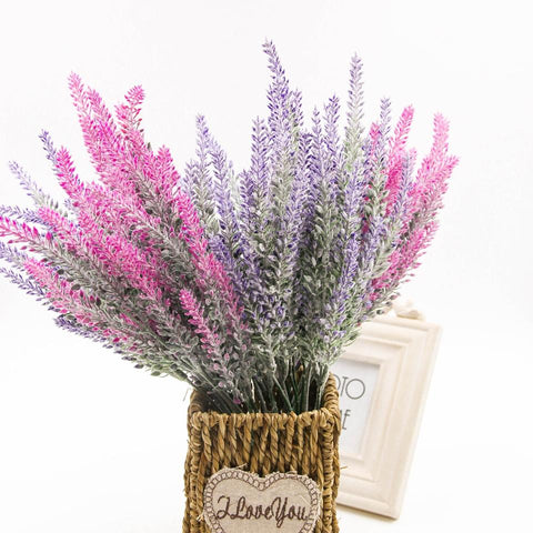 Lavender Artificial  Flowers Wedding Home Decoration