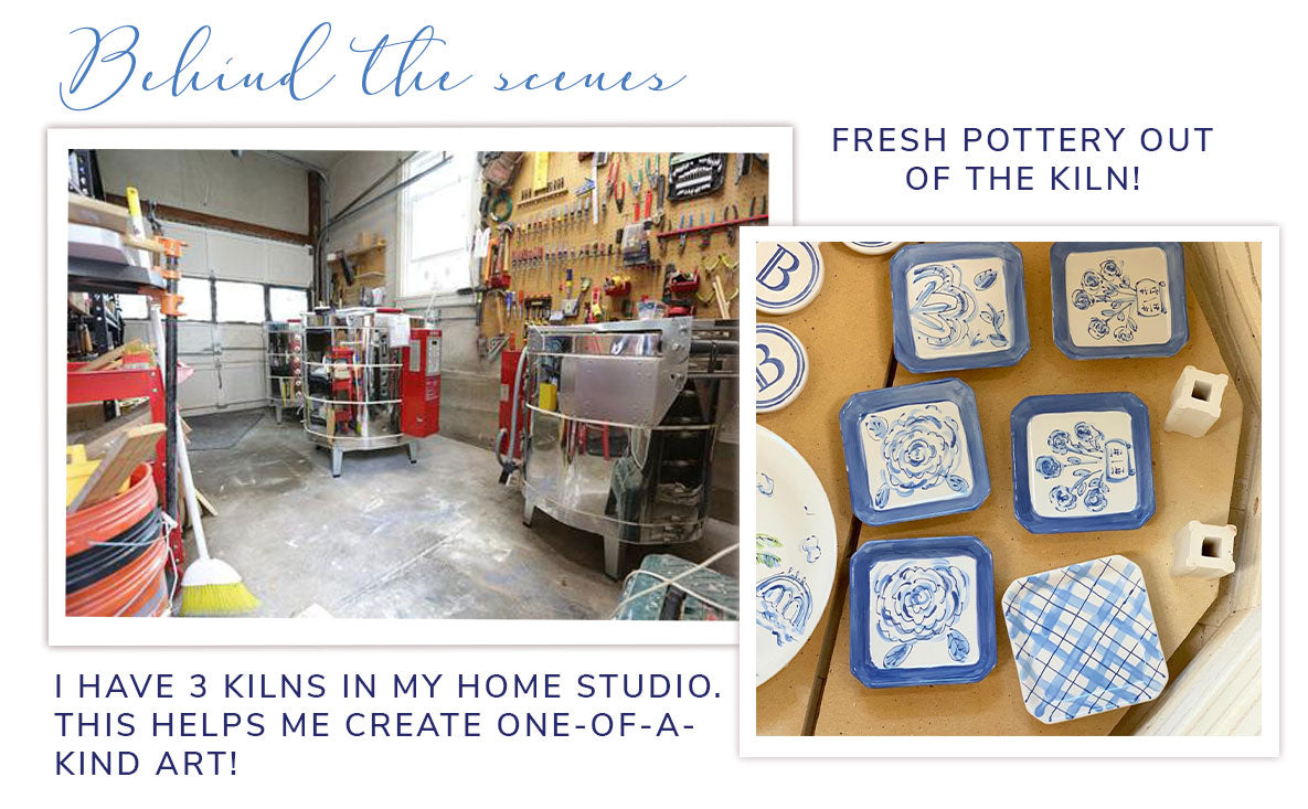 Behind the scenes- Kilns in my home studio so that I can create one-of-a-kind-art!