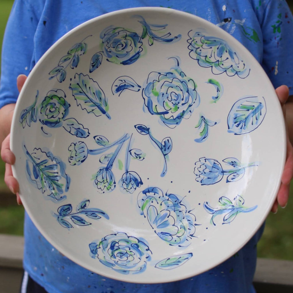 Extra Large Floral Pattern Bowl