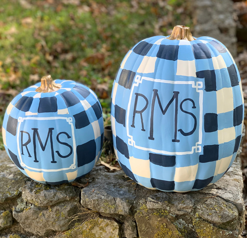 Faux Monogram Pumpkins