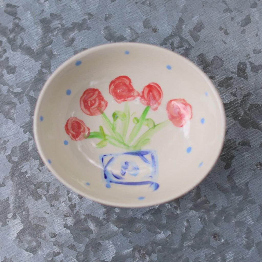 Small Floral Polka Dot Bowl