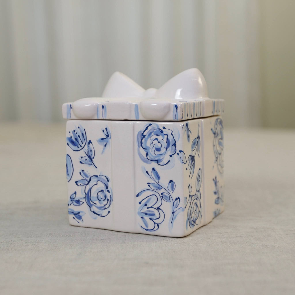 Blue and White Ceramic Gift Box