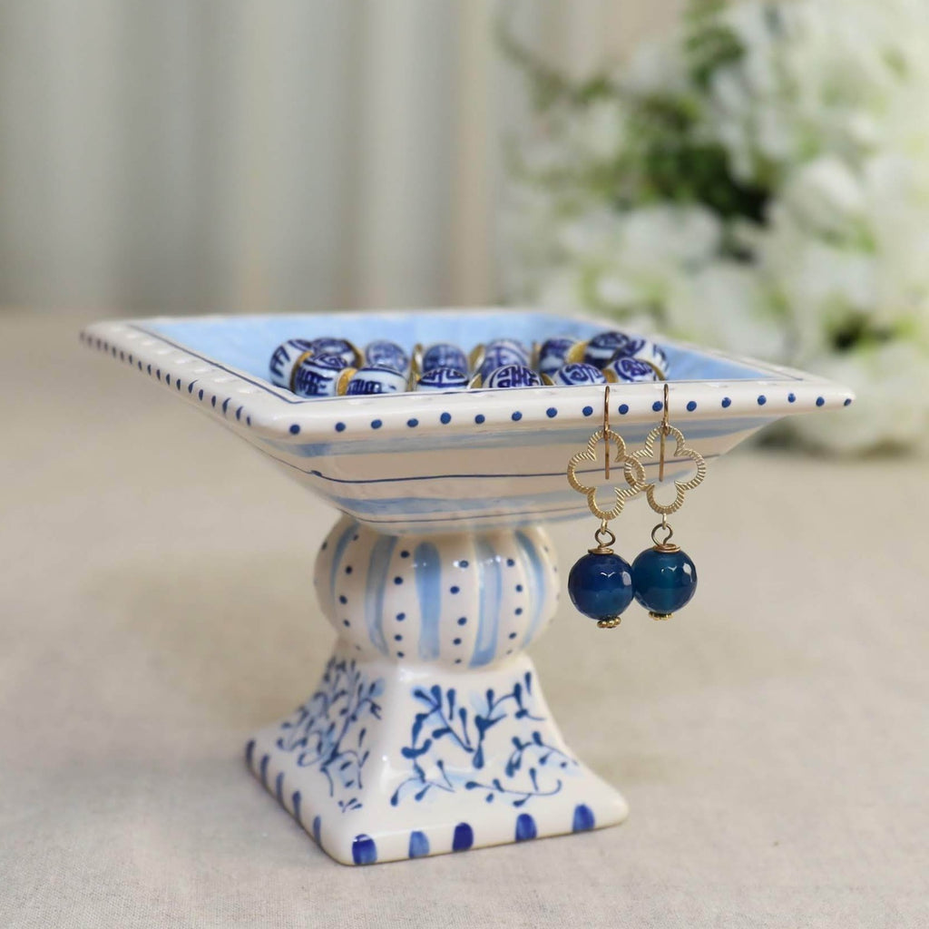 Blue and White Jewelry Holder