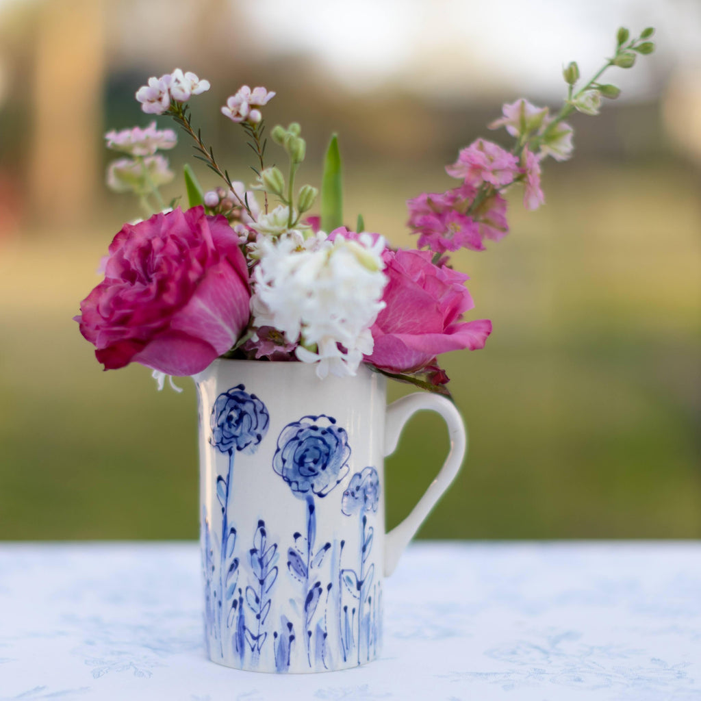 Floral Pattern Ceramic Pitcher