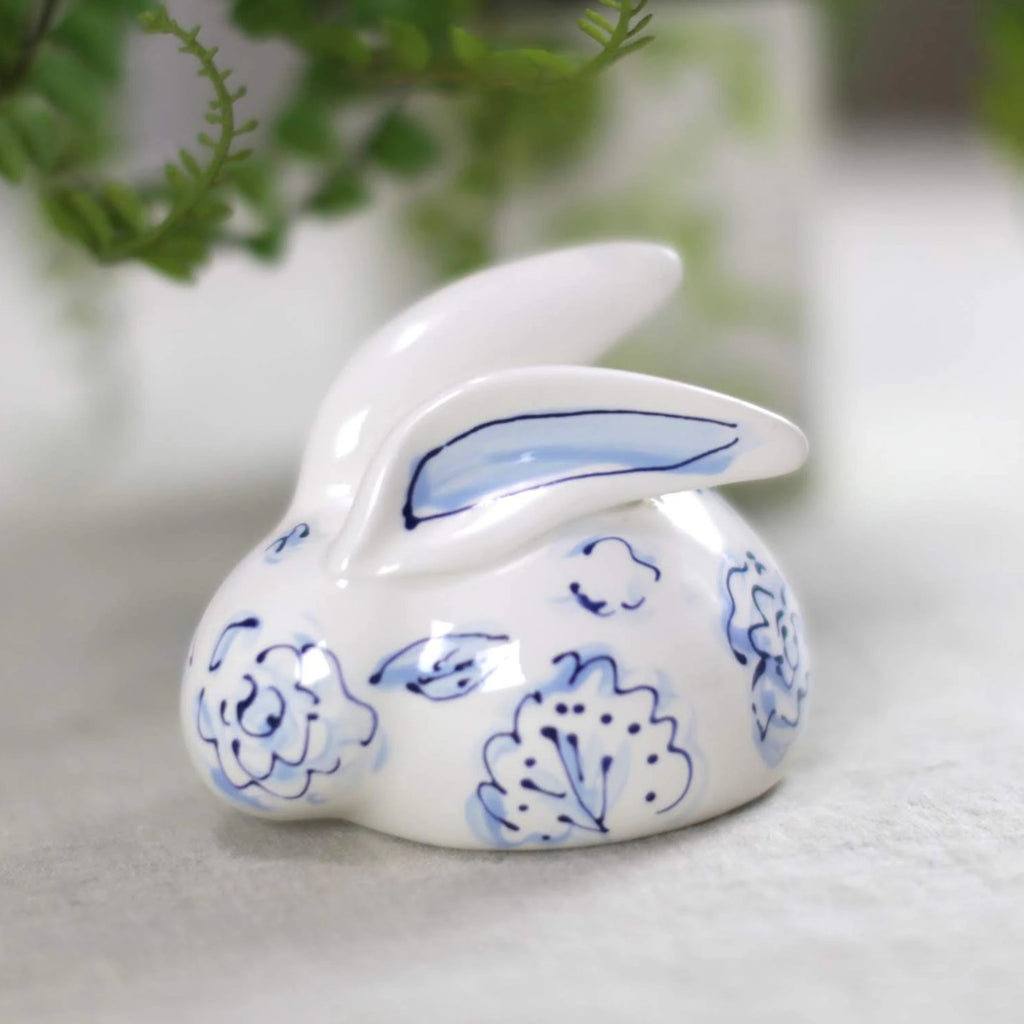 Hand Painted Ceramic Bunny Statue