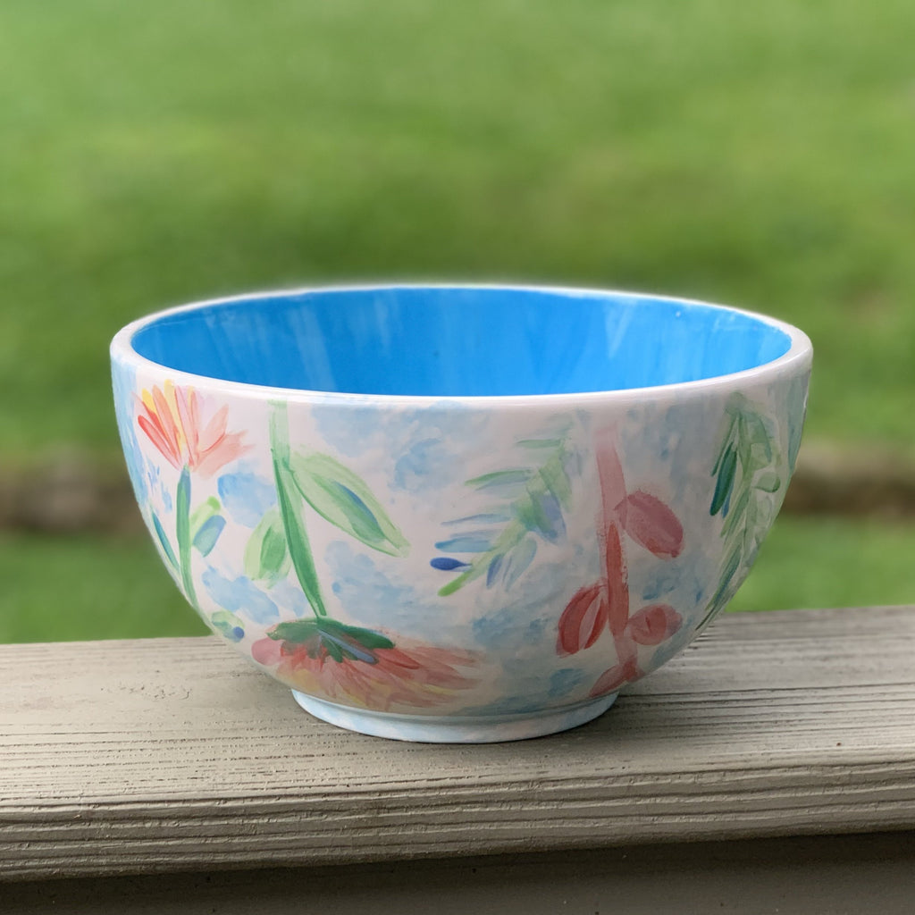 Floral Watercolor Bowl