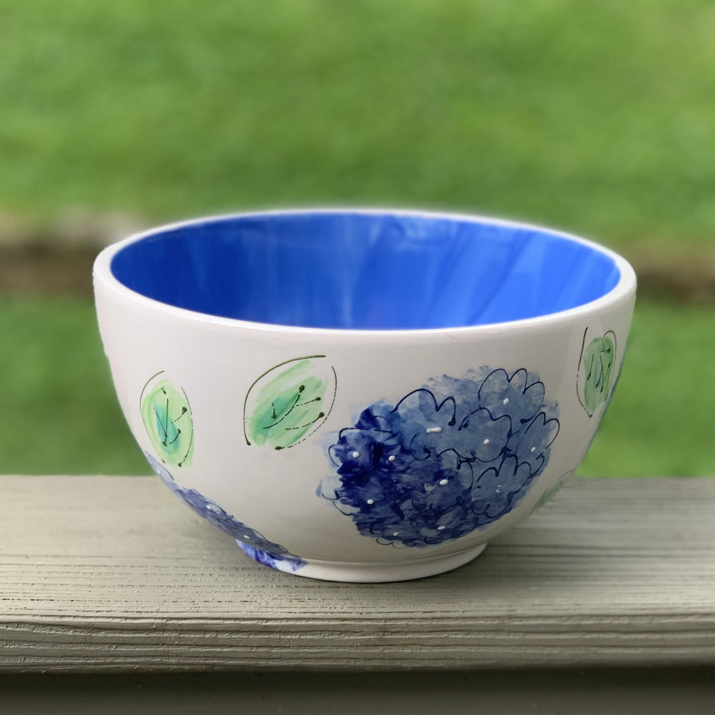 Pink or Blue Hydrangea Bowl