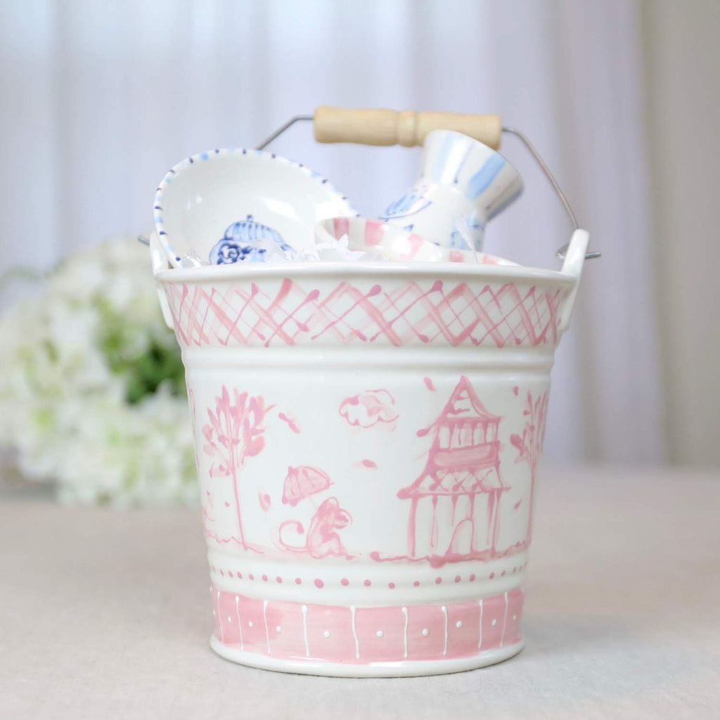 Bucket Chinoiserie Pink