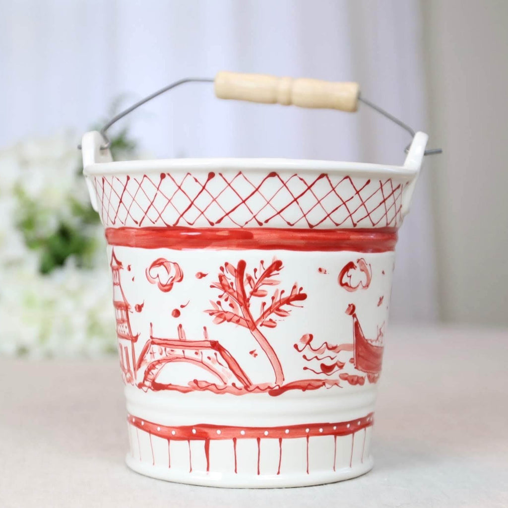 Bucket Chinoiserie Red