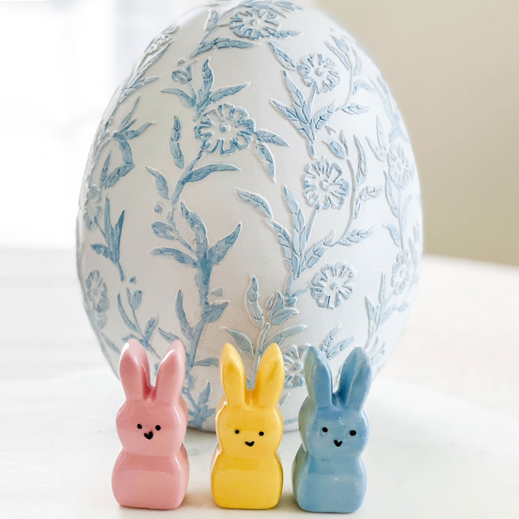 Set of 3 Mini Ceramic Easter Peeps