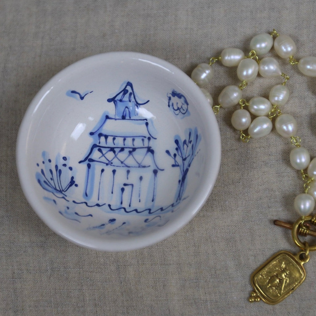 Chinoiserie Mini Bowl with Bird