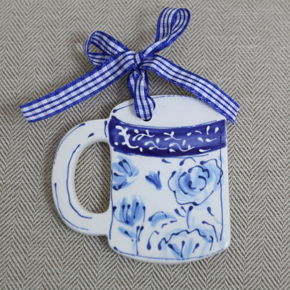 Chinoiserie Coffee Mug Ornament