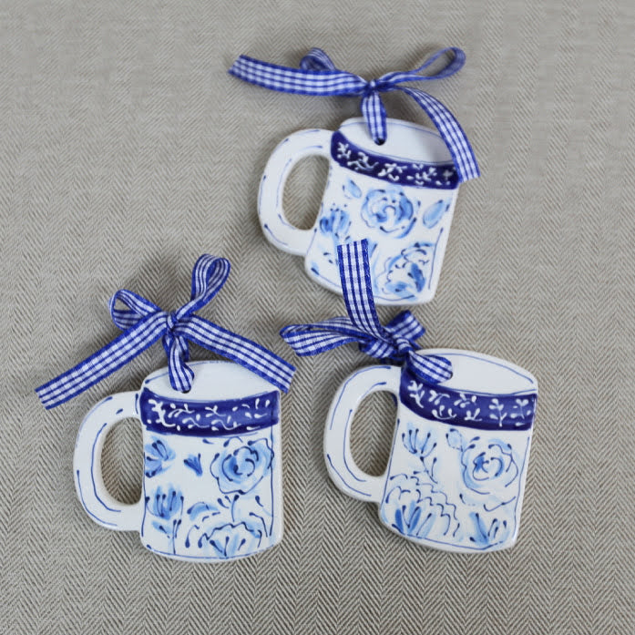 Chinoiserie Coffee or Tea Mug Ornament