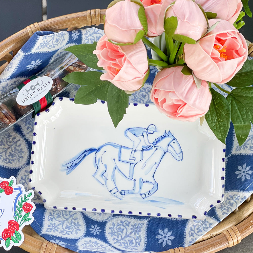 Horse Race Kentucky Derby Plate