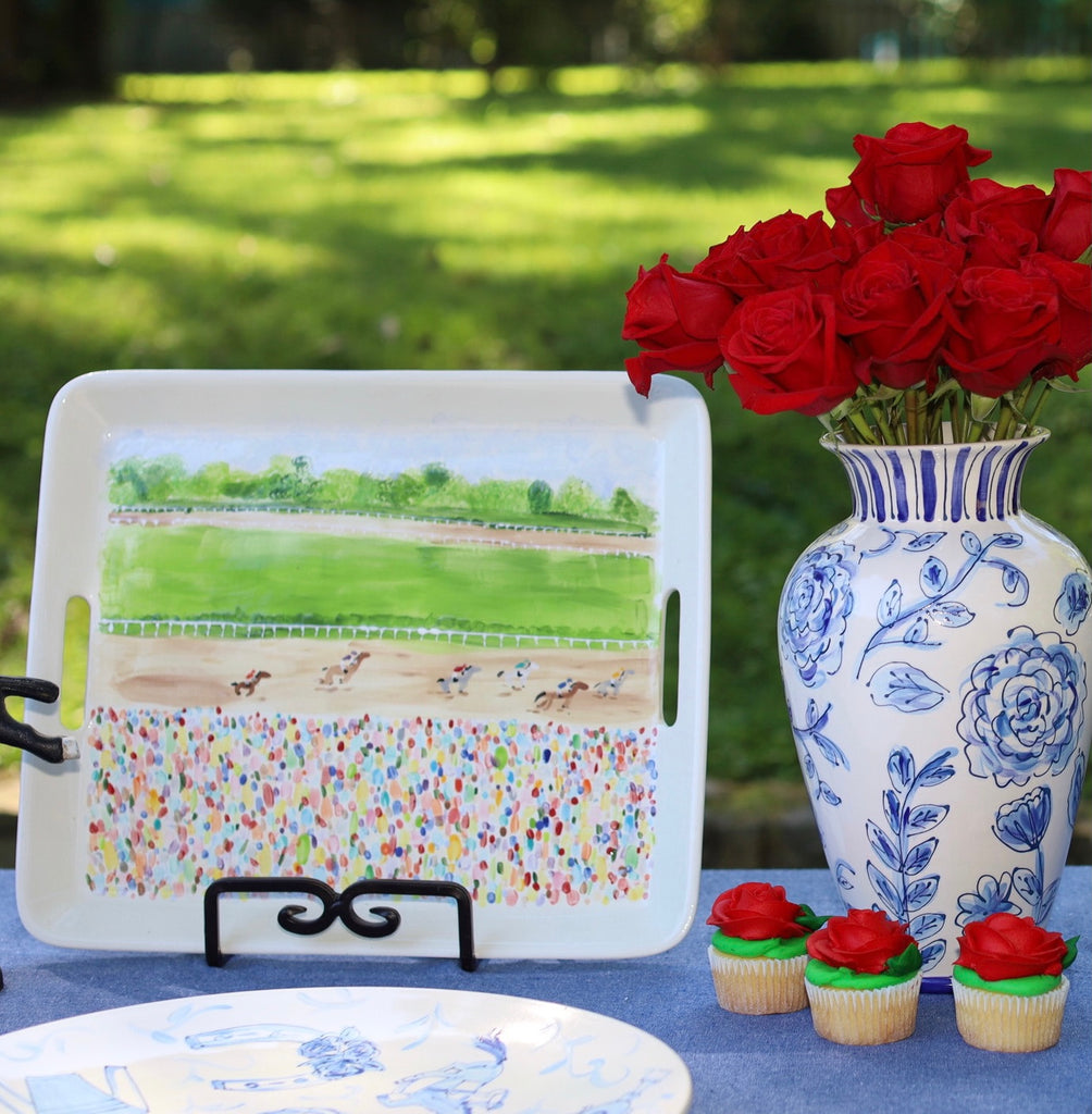 Kentucky Derby Race Themed Serving Tray