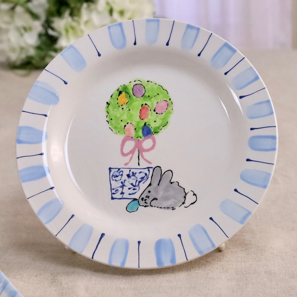 Easter Bunny Topiary Plate