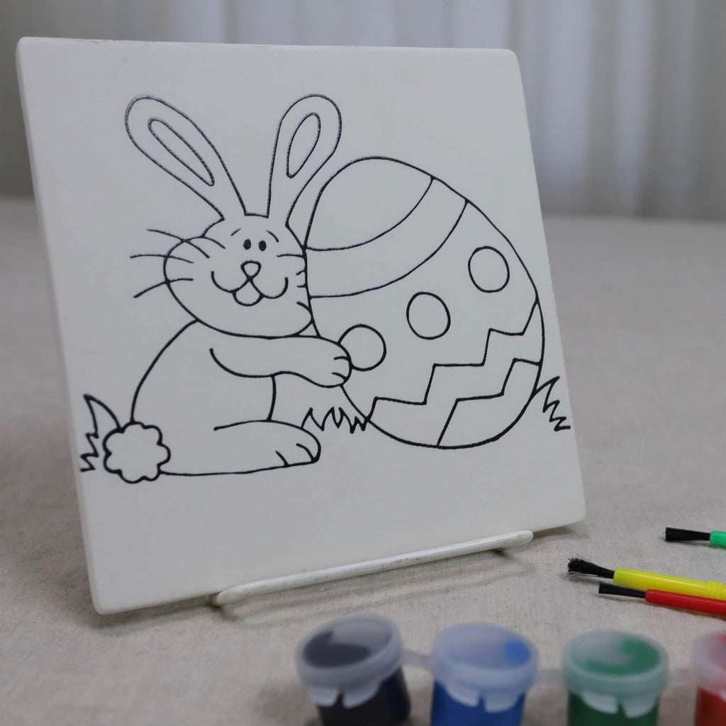 Easter Bunny Tile Pottery Paint To Go Kit