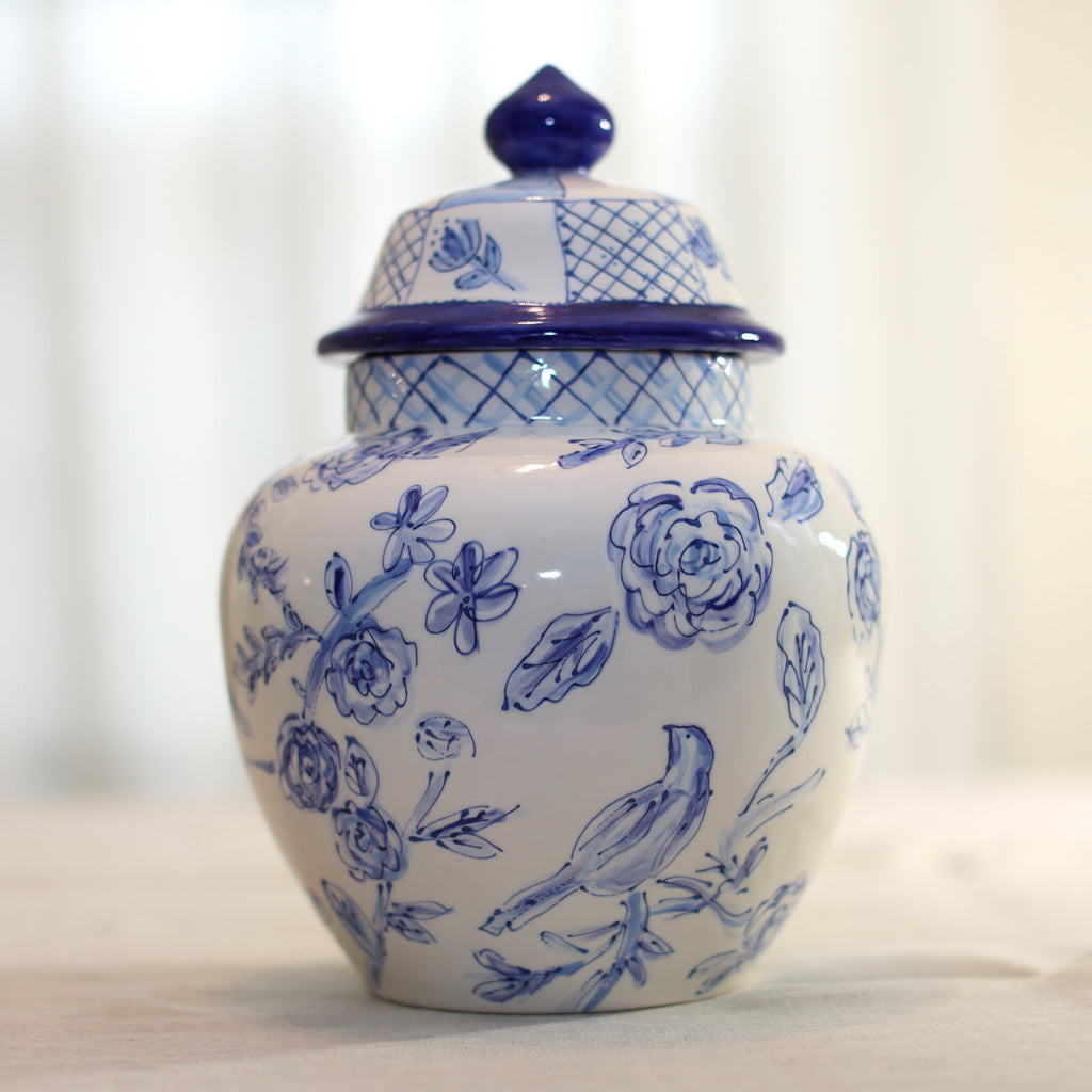 Emma Large Blue and White Ginger Jars